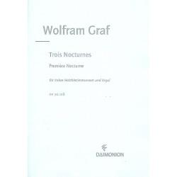Graf, Wolfram: Nocturne op.158,1 : f├╝r hohes Holzblasinstrument und Orgel
