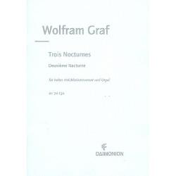 Graf, Wolfram: Nocturne op.158,2 : f├╝r hohes Holzblasinstrument und Orgel