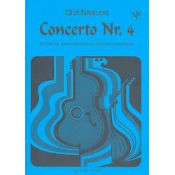 Näslund, Olof: Konzert Nr.4 für Flöte (Melodieinstrument) und Zupforchester Partitur