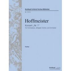 Hoffmeister, Franz Anton: Konzert D-Dur Nr.1 : für Kontrabass und Orchester (mit obligater Violine) Partitur