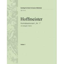 Hoffmeister, Franz Anton: Konzert D-Dur Nr.1 : für Kontrabass und Orchester (mit obligater Violine) Violine 1