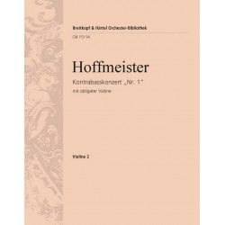 Hoffmeister, Franz Anton: Konzert D-Dur Nr.1 : für Kontrabass und Orchester (mit obligater Violine) Violine 2
