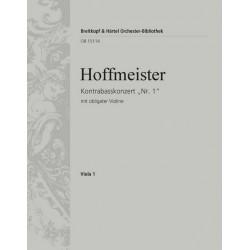 Hoffmeister, Franz Anton: Konzert D-Dur Nr.1 : für Kontrabass und Orchester (mit obligater Violine) Viola