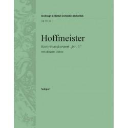Hoffmeister, Franz Anton: Konzert D-Dur Nr.1 : für Kontrabass und Orchester (mit obligater Violine) obligate Violine