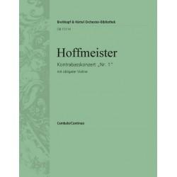 Hoffmeister, Franz Anton: Konzert D-Dur Nr.1 : für Kontrabass und Orchester (mit obligater Violine) Cembalo