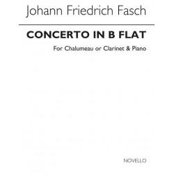 Fasch, Johann Friedrich: Konzert B-Dur f├╝r Chalumeau und Orchester : f├╝r Chalumeau (Klarinette) und Klavier Verlagskopie