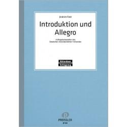 Feld, Jindrich: Introduktion und Allegro : für Akkordeon und Schlagzeug