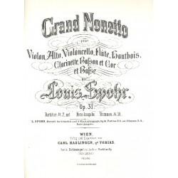 Spohr, Louis: Nonett op.31 für Violine, Viola, Violoncello, Flöte, Oboe, Klarinette, Horn, Fagott und Bass Stimmen