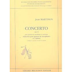 Martinon, Jean: Concerto op.38 pour 4 saxophones (SATBar) et orchestre : r├®duction pour 4 saxophones et 2 pianos (2 exemplaires