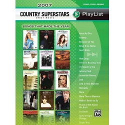 2007 Country Superstars Sheet Music Playlist : songbook piano/vocal/guitar