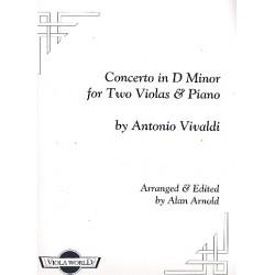 Vivaldi, Antonio: Concerto in D Minor : for 2 violas and piano score and parts