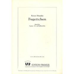 Dimmler, Rainer: Fugettchen : f├╝r 3 Blockfl├Âten (SAB) Partitur und Stimmen