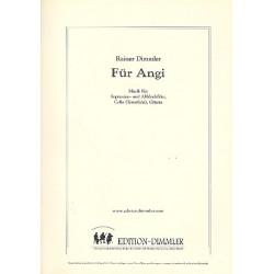 Dimmler, Rainer: F├╝r Angi : f├╝r Sopranino- und Altblockfl├Âte, Violoncello und Gitarre Partitur und Stimmen
