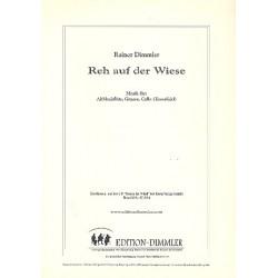 Dimmler, Rainer: Reh auf der Wiese : f├╝r Altblockfl├Âte, Gitarre und Violoncello Partitur und Stimmen
