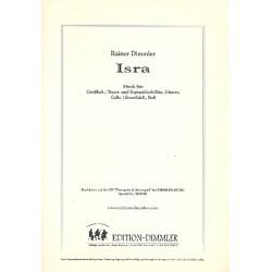 Dimmler, Rainer: Isra : f├╝r Blockfl├Âte (ST GB), Gitarre, Violoncello und Kontraba├ƒ Partitur und Stimmen