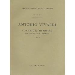 Vivaldi, Antonio: Concerto in mi minore : per violino, archi e cembalo partitura
