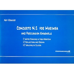Rosauro, Ney Gabriel: Concert no. 2 : for marimba and percussion ensemble score and parts