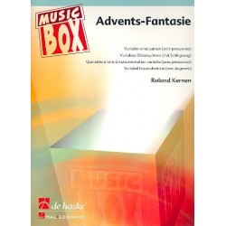 Kernen, Roland: Advents-Fantasie : for variable wind quintet (with percussion) score and parts
