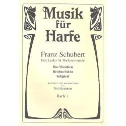 Schubert, Franz: 3 Lieder : f├╝r 3 Harfen Harfe 1