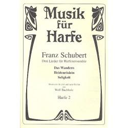 Schubert, Franz: 3 Lieder : f├╝r 3 Harfen Harfe 2