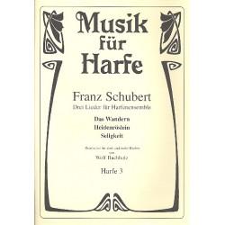 Schubert, Franz: 3 Lieder : f├╝r 3 Harfen Harfe 3