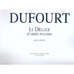 Dufourt, Hugues: Le deluge d'apres Poussin : pour orchestre, partition d'orchestre (2001)