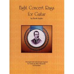 Joplin, Scott: 8 Concert Rags (+CD) : for guitar