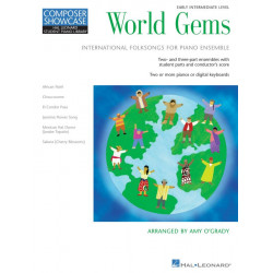 World Gems : for piano ensemble score and parts