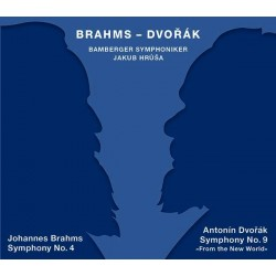 Brahms 4. Sinfonie / Dvorák 9. Sinfonie Bamberger Sinfoniker, Jakub Hruša (2 SACD, Tudor, 2018/19)