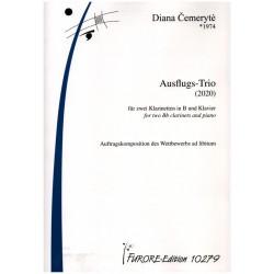 Cemeryté, Diana: Ausflugs-Trio für 2 Klarinetten in B und Klavier Partitur und Stimmen