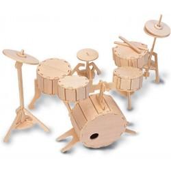 QUAY Woodcraft Construction Kit - Schlagzeug