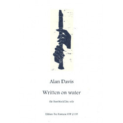 Davis, Alan: Written on Water : f├╝r Ba├ƒblockfl├Âte (Gro├ƒba├ƒ) solo