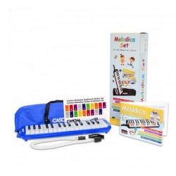 Cascha Melodica Set Blau, inklusive Tasche, Mundstück, Schule