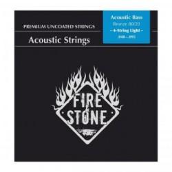 Fire&Stone Acoustic Bass Saiten, 4sting light, Bronze