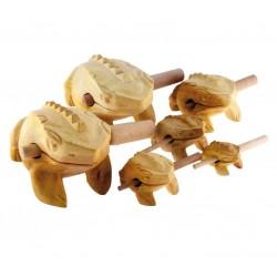 DAN MOI Frosch aus Holz klein (ca. 10 cm) inkl. Schlägel