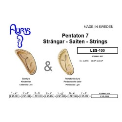Auris Lyrasaiten SATZ (7 Saiten pentatonisch für LGP, LNP, LOP)