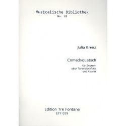 Krenz, Julia: Comedyquatsch . für 2 Blockflöten (ST) und Klavier