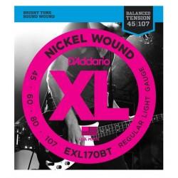 D'Addario EXL170BT Saiten für E-Bass, Regular - Light (.045 - .107)
