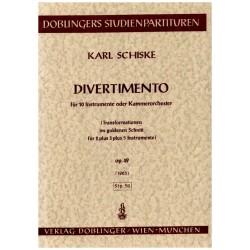 Schiske, Karl: Divertimento für 10 Instrumente oder Kammerorchester Studienpartitur