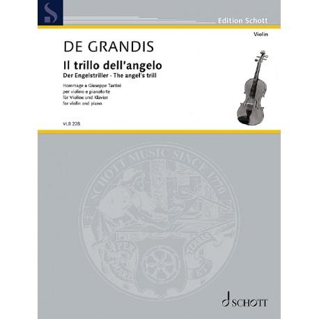 Grandis, Renato de, Der Engelstriller Violine und Klavier Partitur und Stimme