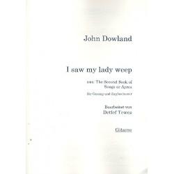 Dowland, John: I saw my Lady weep für Gesang und Zupforchester Gitarre