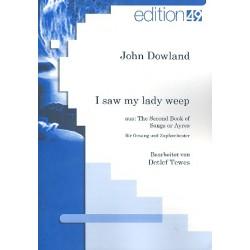 Dowland, John: I saw my Lady weep für Gesang und Zupforchester Partitur