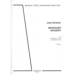 Künstler, Uwe: Moskauer Konzert für Mandoline, Gitarre und Zupforchester Partitur