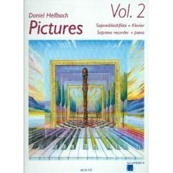 Hellbach, Daniel: Pictures vol.2 (+CD) : für Sopranblockflöte und Klavier