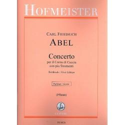 Abel, Karl Friedrich: Concerto per il Cornu di Caccia con piu Stromenti Es-Dur : f├╝r Horn und Streicher, Partitur