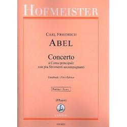 Abel, Karl Friedrich: Concerto à Cornu principale con piu Stromenti accompagnanti Es-Dur : für Horn und Streicher, Partitur