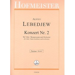 Lebedev, Alexej: Konzert Nr.2 : für Tuba (Baßposaune) und Orchester Partitur