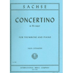 Sachse, Ernst: Concerto B flat major : for trombone and piano