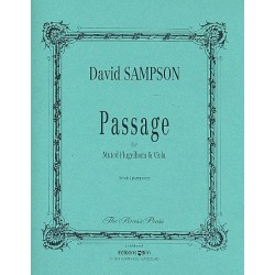 Sampson, David: Passage : for muted flugelhorn and viola 2 playing score