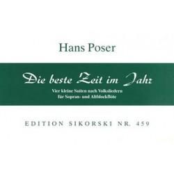 Poser, Hans: Die beste Zeit im Jahr : Kleine Suite nach Volksliedern für 2 Blockflöten (SA)